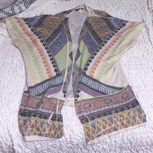 Silver gate knitted kimono